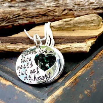 Personalized Memorial Necklace Sympathy Gift | Loss Of Loved One | Remembrance Necklace | Bereavement Gift Infant Loss