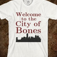 Welcome to the City of Bones-Unisex White T-Shirt