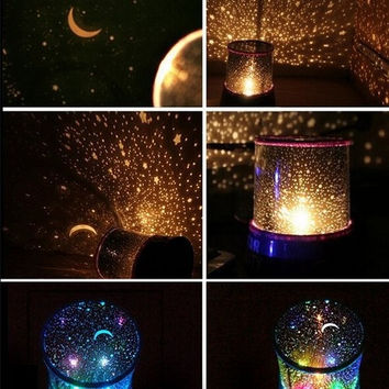 New Sky Star Master Night Light Projector LED Lamp Fun Master Children Gift (Color: Multicolor) = 5618298369