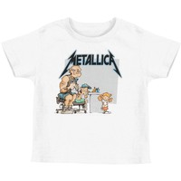 Metallica Boys' Tattoo Toddler Tee Childrens T-shirt White
