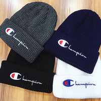 Champion : fashion men's and women's knitted cap