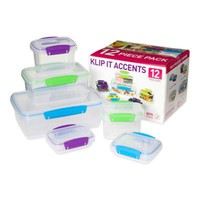 Sistema® KLIP IT® 12-Piece Accents Food Storage Container Set