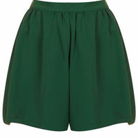 Forest Green Culotte Shorts - Forest