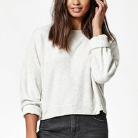 Kendall & Kylie Teddy Fleece Cropped Crew Neck Sweatshirt at PacSun.com