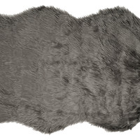 Faux Sheepskin, Gray, Area Rugs