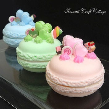 1:6, scale, Macaroon, Cake, Love, Heart, Faux, Fake, Food, Kawaii, Doll, Cute, Bakery, Pastry, Dessert, Sweets, Candy, Gift, Blythe, BJD, SD