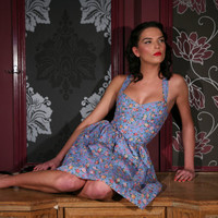 Betty 1950's Vintage Inspired Floral Sweetheart Sundress
