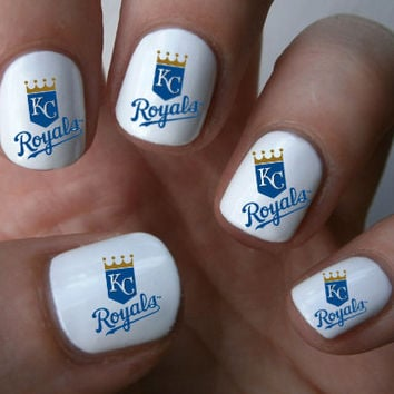 Kansas City Royals MLB Baseball nail decals tattoos nail art