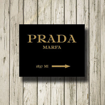 PRADA MARFA Mileage Golden Black Pink White Print Poster Printable Instant Download Wall Art Home Decor G078b
