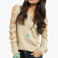 Shimmer Ladder Sweater $35
