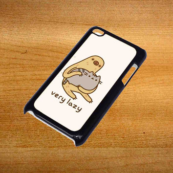 Pusheen cat and sloth For iPod Touch 4 Case *76*