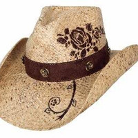 Bullhide Monecarlo Romantic Dream Raffia Westerh Hat Natural xLarge