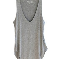 TRURENDI Fashion Summer Woman Lady Sleeveless V-Neck Candy Vest Loose Tank Tops T-shirt (gray)