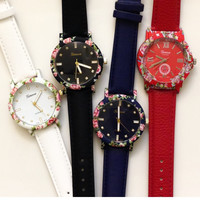 Lether Band Flower Watches #W44