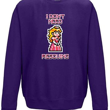 I Don't Need Rescuing, Adults Printed Sweatshirt