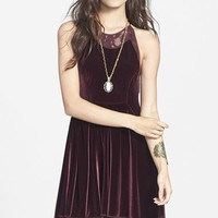Women's Free People Lace & Velvet Minidress