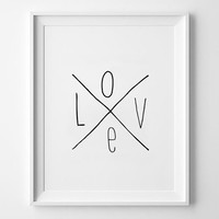 LOVE quote poster print, Typography Posters, Home decor, Motto, Handwritten, A3 poster, A4, words, inspirational, valentines, life motto
