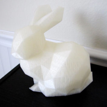 3d Printed Geometric Low Poly Bunny Rabbit figurine sculpture 3d Print Geek Gift 3d printing 3-d art modern home accessories animal
