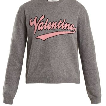 Logo-intarsia wool and cashmere-blend sweater | Valentino | MATCHESFASHION.COM US