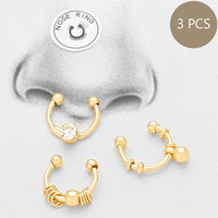 Nose Ring 3 Piece Gold