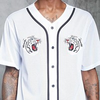 Tiger Patch Baseball Jersey