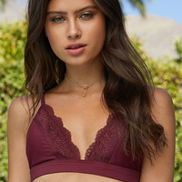 LA Hearts Lace Trim Triangle Bikini Top at PacSun.com