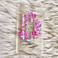 Lilly Pulitzer Monogram Cell Cover