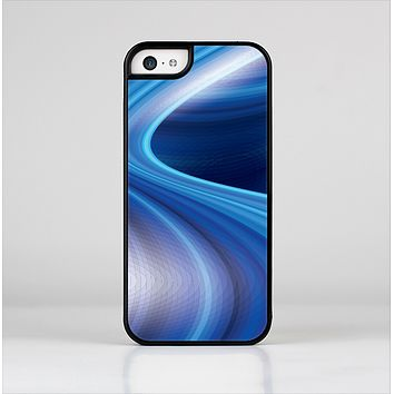 The Gradient Waves of Blue Skin-Sert Case for the Apple iPhone 5c