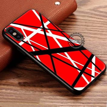 Van Halen Guitar Pattern iPhone X 8 7 Plus 6s Cases Samsung Galaxy S8 Plus S7 edge NOTE 8 Covers #iphoneX #SamsungS8