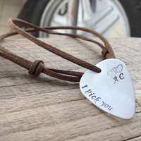 Fashion Accessories for men,Guitar pick necklace, personalized guitar pick necklace, Charm guitar pick, Personalized men's Gift jewelry