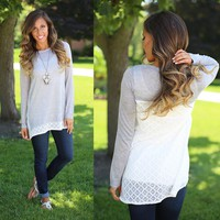 Edged in Lace Tunic