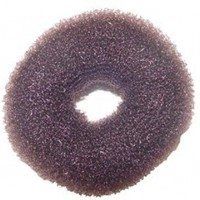"Hair Donut Medium * 3"" Dia. X 1"" Thick - Brown"