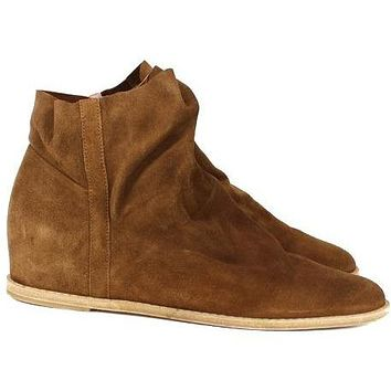 Stuart Weitzman ANKLE BOOTIES Brown Suede Leather Shoes Boots US 6 UK 36