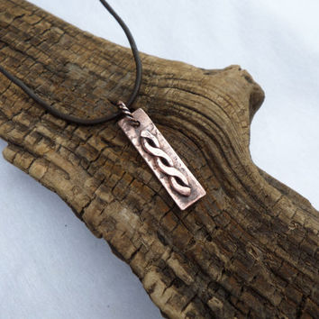Copper Pendant Necklace, Men's Copper Pendant Necklace, Women's Copper Pendant Necklace, ColeTaylorDesigns