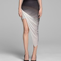 HELMUT LANG SHADOW OMBRE JERSEY SKIRT