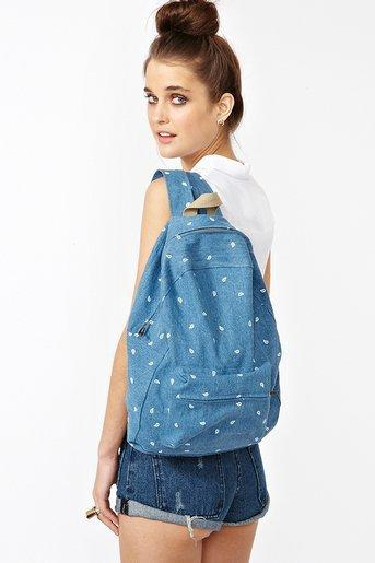 Paisley Denim Backpack in Accessories Bags at Nasty Gal