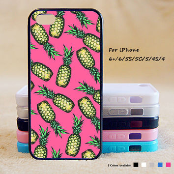 2 Pineapple Phone Case For iPhone 6 Plus For iPhone 6 For iPhone 5/5S For iPhone 4/4S For iPhone 5C iPhone X 8 8 Plus