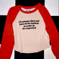 SWEET LORD O'MIGHTY! RESPECT ALL WOMEN RAGLAN IN NUDE