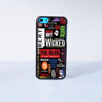 Wicked A New Musical  Plastic Case Cover for Apple iPhone 5C 6 Plus 6 5S 5 4 4s