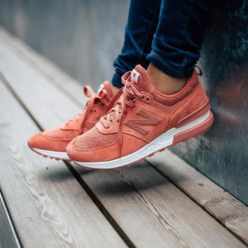 kuyou New Balance 574 Sport Suede Pack 'Copper Rose with White'