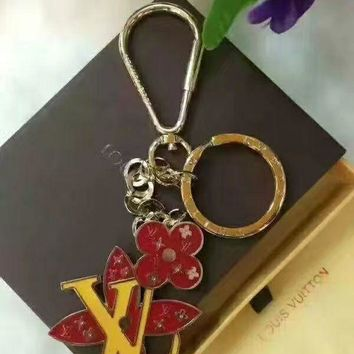 Initials w/two Cloves Keychain