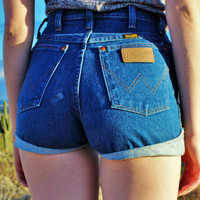 Wrangler High Waisted Vintage Jean Shorts