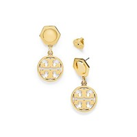 Tory Burch Circle Logo Earring