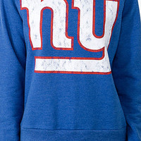 Off-The-Shoulder New York Giants Sweatshirt