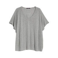 Buy Violeta by Mango Metallic Thread T-shirt, Grey | John Lewis
