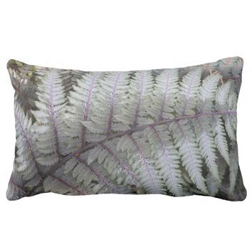 Japanese Painted Fern Floral Lumbar Pillow