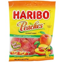 Haribo Peaches Gummi Candy 5 oz. (142g)