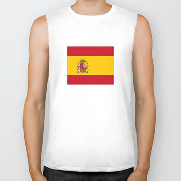 Flag of spain-spain,flag,flag of spain,espana,spanish,espanol,Castellano,Madrid,Barcelona, Biker Tank by oldking