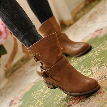 2016 New Woman Ladies Shoes Zapatos Mujer Chaussure Women Boots Ankle Boots Bota Riding Boots Casual Ladies Martin Boots Q213