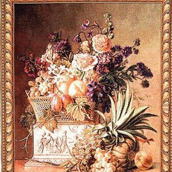 050327 European Rural Pineapple Potted Flower Home Sitting Room The Bedroom Decorate Wall Tapestry